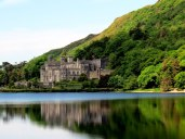 Kylemore Abbey. This was a quick photo stop through the bus window.
