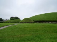 Burial tombs at Knowth from abt. 3,000 B.C.