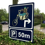 Loved this motorcycle parking sign.