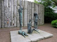 Famine sculpture, St. Stephen's Green, Dublin