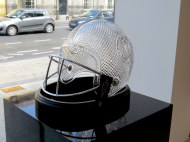 Waterford Crystal Factory. These helmet will be given to the coaches of Boston College and GA Tech when they play at the Aer Lingus College Football Classic in Dublin on Sept 3, 2016.