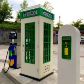 I'm pretty sure this is an Irish TARDIS between the diesel pump and mailbox.