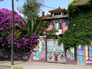 Murals and Street Art in Barrio Bellavista, Santiago