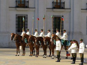 Changing of the Guard, La Moneda Palace, Santiago
