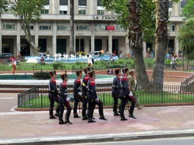 Headed for the changing of the guards at the Tomb of General Jose de San Martin