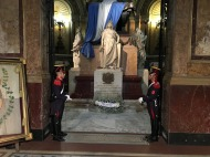 Tomb of General Jose de San Martin with military custody guards, Metropolitan Cathedral Buenos Aires