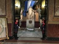 Tomb of General Jose de San Martin with military custody guards, Metropolitan Cathedral Buenos Aires