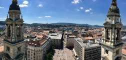 View of Budapest from the dome of St. Stephen's Basilica