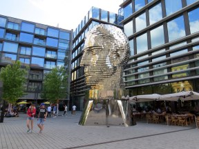 Metalmorphosis sculpture of Franz Kafka in Prague