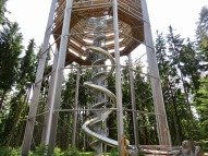 Viewing tower near Cesky Krumlov. The slide down was optional...but couldn't be missed.