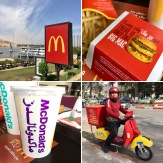Obligatory McDonald's stop in Aswan. Love the McDelivery scooter.