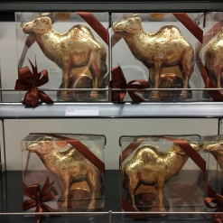 Chocolate camels for sale at the Cairo airport