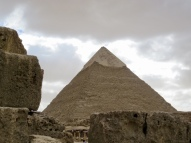 The Great Pyramid of Giza (also known as the Pyramid of Khufu or the Pyramid of Cheops)