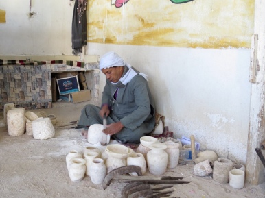Alabaster workshop in Luxor