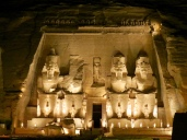 Great Temple of Ramesses II at Abu Simbel, 13th Century BC. Taken at the sound and light show.