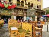 Outdoor dining, Khan El Khalili Bazaar, Cairo