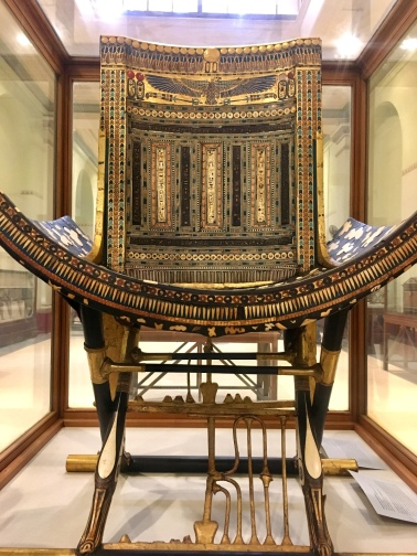 Chair from Tutankhamen's Tomb, Egyptian Museum, Cairo