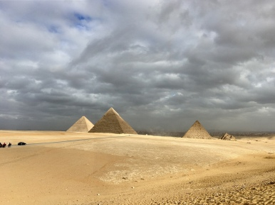 Pyramids of Giza, Cairo. Unfortunately it was a cloudy day.