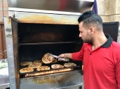 Making Hawwawshi (Egyptian Hamburger). During our food tour in Cairo