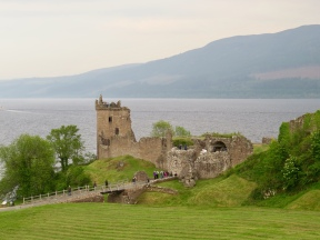 Ruins of Urquhart Castle on Loch Ness. Blown up in 1692 by the military garrison there rather than let it fall to the Jacobites.
