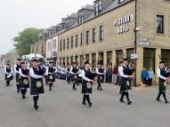 Bagpipe Parade in Thurso