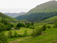 Glenfinnen Viaduct. This was used as the setting for the Hogwarts Express train.