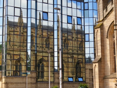 Reflections of the Metropolitan Cathedral of St. Andrews, Glasgow