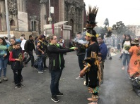 Some kind of shaman in Mexico City