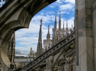 Views from the Milan Cathedral (Duomo)