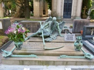 Amazing graves at the Cemetery Monumentale in Milan
