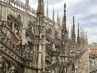 View from the Milan Cathedral terraces