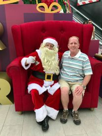 Meeting with Santa at Larcomar