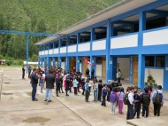 School visit near Urubamba