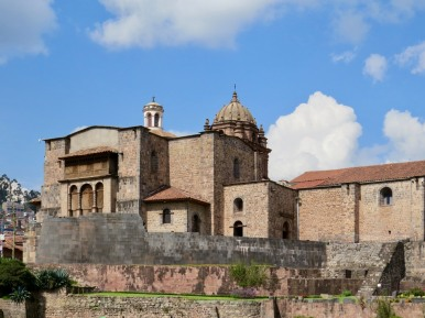 Coricancha (The Golden Temple) with Convent of Santo Domingo above