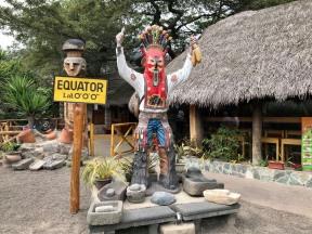 At the Equator.